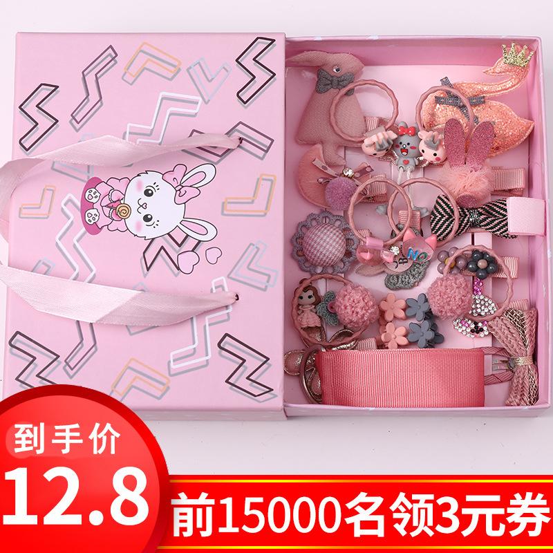 女童头饰礼盒套装夹子韩国宝宝发夹儿童发饰潮超仙小女孩发卡饰品