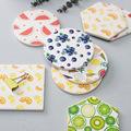 批发图案硅藻土杯垫隔热垫餐桌垫耐磨吸水杯垫夏日水果定制直销