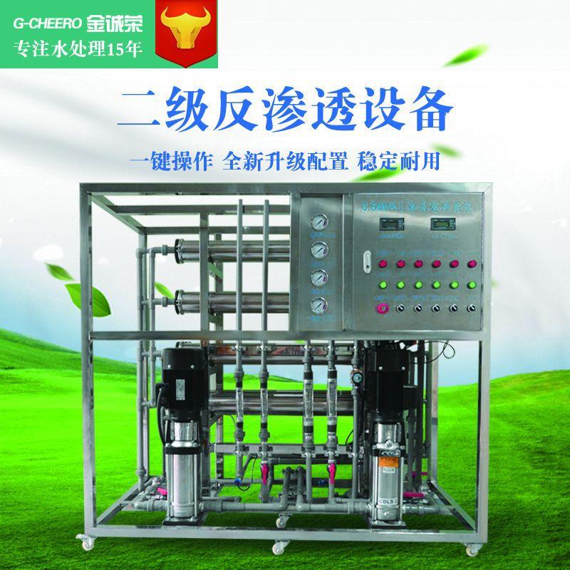 工业净水设备RO二级反渗透纯水设备中小型水处理去离子净水设备