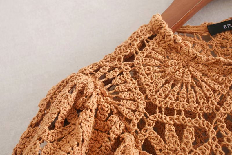 Autumn crochet knit vest top NHAM153191