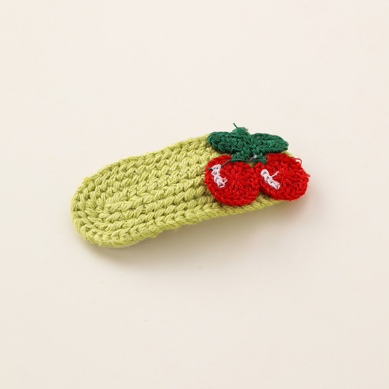 Color woolen fruit hairpin rainbow hand-knitted wool BB clip NHMS154743