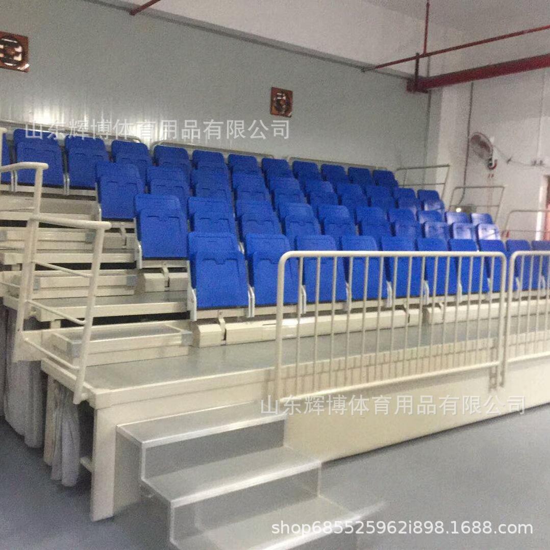 山東座椅廠家供應前置式 后置中空翻板椅 固定看臺吹塑椅伸縮看臺