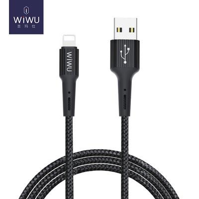 WiWU 数据线安卓micro充电线type-c快充线2.4A尼龙编织耐用