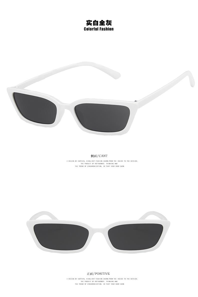 Retro New Narrow Frame Sunglasses Two Color Korean Sunglasses Hip Hop Sunglasses Wholesale NHKD200481