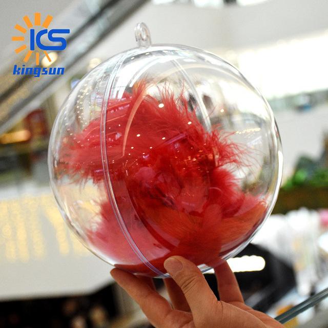 大尺寸圣诞球高透明塑料空心球场地装饰球商场橱窗吊球圣诞球批发