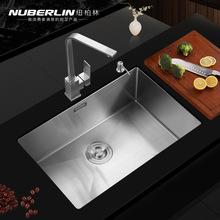纽套餐 手工不锈钢柏林洗菜盆大单槽 304水槽1个盆小洗碗槽