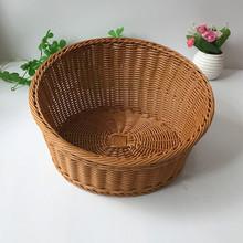 藤编超市展示篮 仿藤面包框 面包店烘培用品篮 仿藤法式面包框