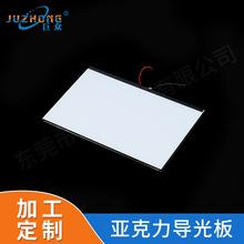 厂家供应LED超薄打点导光板 背光板亚克力激光扩散发光板可定制