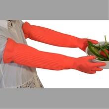 厨房加长款加厚家务加绒保暖防水寒塑胶洗碗洗衣服乳胶橡胶皮手套