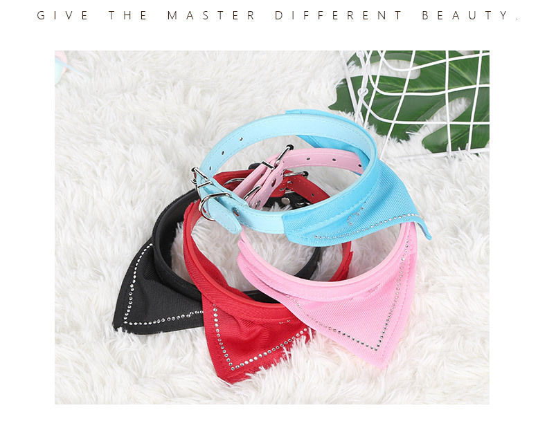 Pet Collar PU Leather Willow Nail Triangle Band Collar Adjustable Buckle Cat and Dog Collar  NHPSM443476