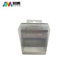 定制PVC卡纸包装盒 PVC挂盒包装盒烫金UV工艺彩色印刷包装盒厂家