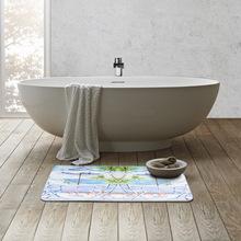 印花欧式厨房吸水地垫一件代发 家用加厚入户门垫 长条阻滑地毯