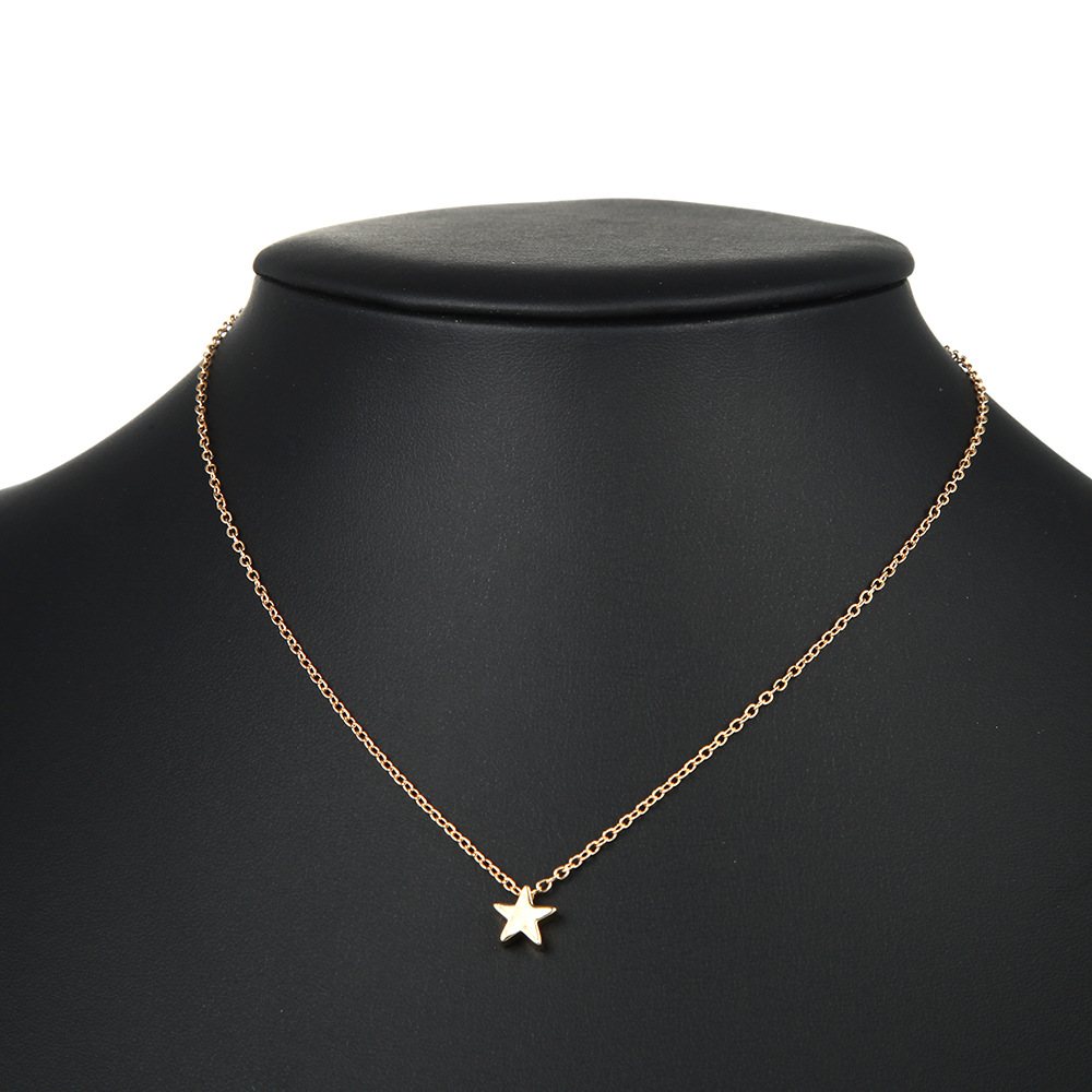 Star alloy simple necklace NHPF151126