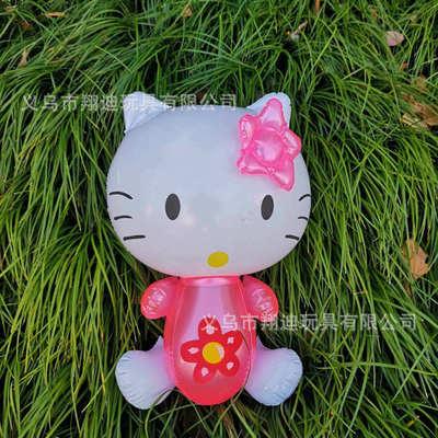 货源厂家直销KT猫充气玩具hellokitty猫咪儿童PVC凯蒂猫地摊玩具批发批发