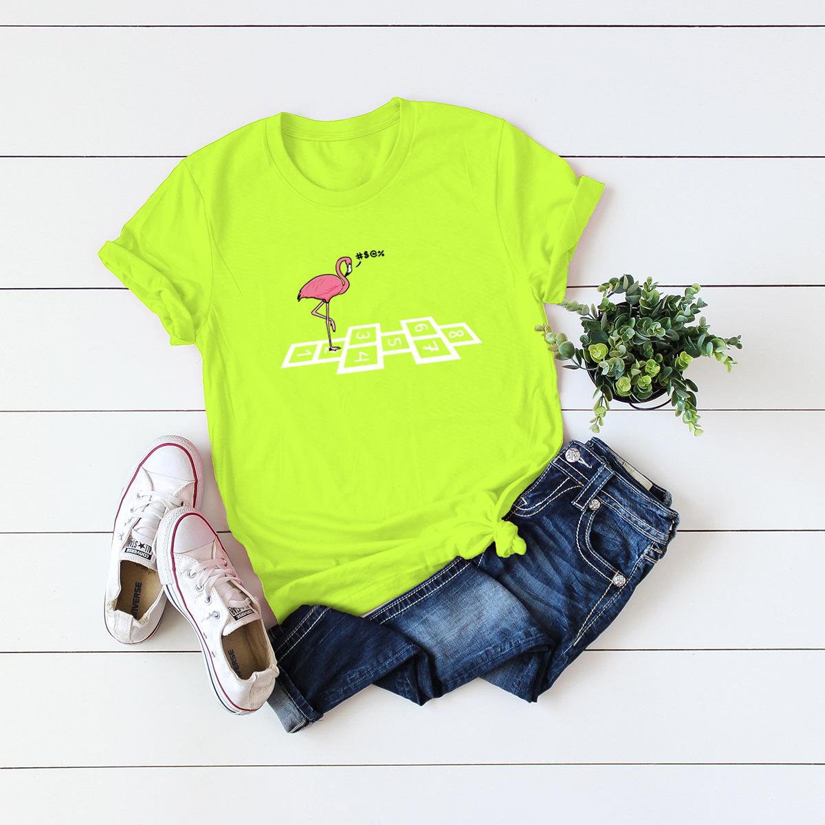 cute nostalgic red-crowned crane short-sleeved T-shirt NSSN3368