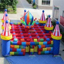 充气迷宫室外大型城堡淘气堡大型游乐场广场公园亲子游乐设备滑梯
