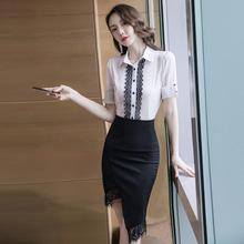 套装裙女春夏2019新款女装雪纺衫时尚牛仔半身裙子两件套女连衣裙