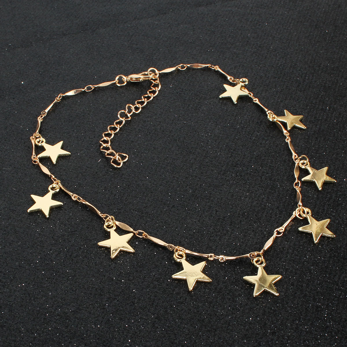 Clavicle chain temperament simple wind short section copper five-pointed star NHCT175211