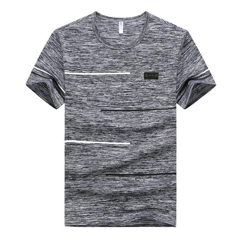 短袖T恤男式M-9XL大码夏季男士运动速干休闲男装圆领半袖体恤衣服