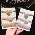 韓國網紅ins珍珠發圈套裝簡約愛心頭繩手鏈兩用頭飾女士橡皮筋