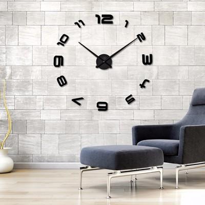 【厂家批发】超大尺寸创意 挂钟艺术钟表现代个性diy背景墙静音钟