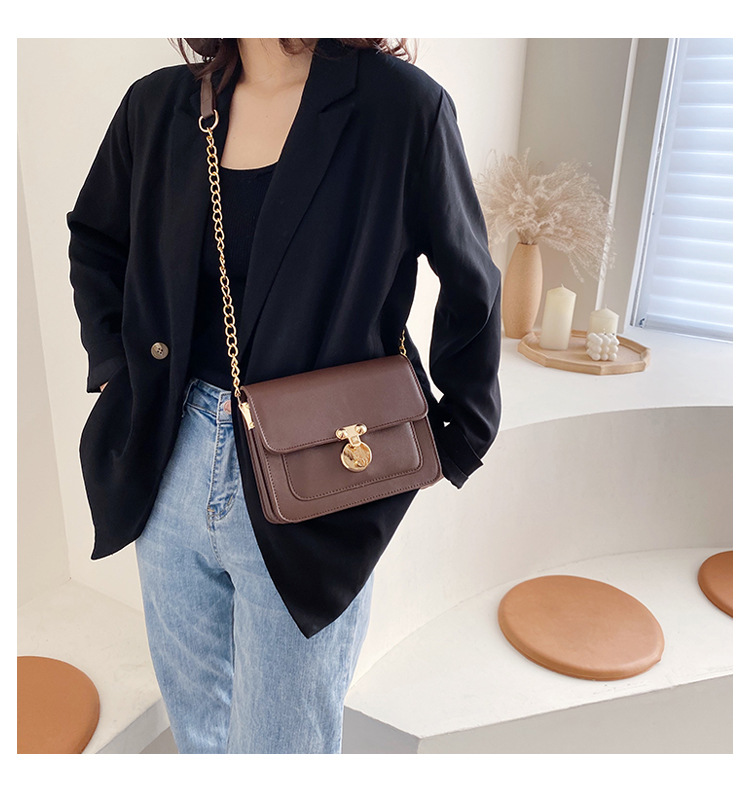 Bag women autumn and winter new wild one-shoulder fashion slant small square bag NHTC195628
