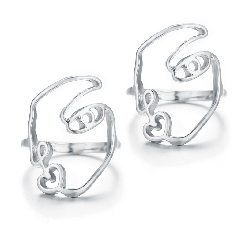 New create alloy face ring fashion simple ring NHPJ173103