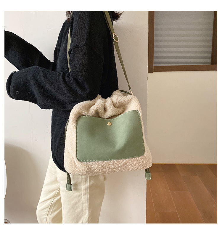 hairy shoulder fashion messenger bag NHLH284165