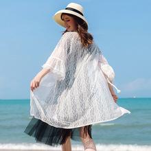 港味宽松蕾丝衫 2019夏季新款品牌女装七分袖镂空中长款上衣97152
