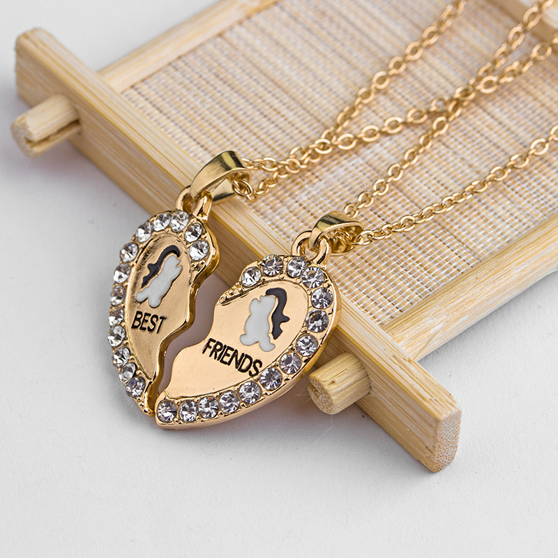 Explosion Necklace Suit Fashion Good Friends Loving Penguin Necklace wholesale nihaojewelry NHMO229257