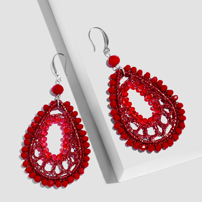 Alloy Fashion Geometric earring  red  Fashion Jewelry NHAS0548red