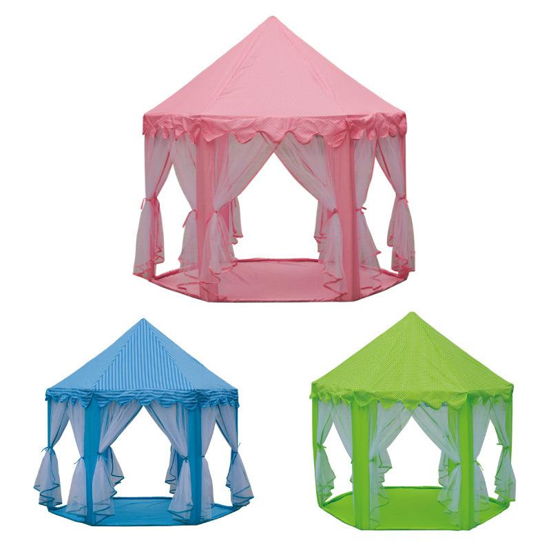 خيمة للأطفال داخلية وخارجية سداسية أميرة القلعة لعبة منزل تول مكافحة البعوض خيمة لعبة خيمة الأطفال
