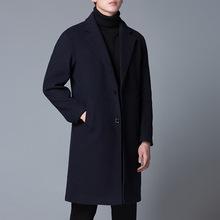 秋冬新款韩版男士羊毛呢子大衣休闲中长款外套修身百搭西装风衣男