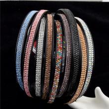 常年款樹脂爪鏈簡單三排水鉆發箍頭箍頭扣經典款發飾頭箍簡約發箍