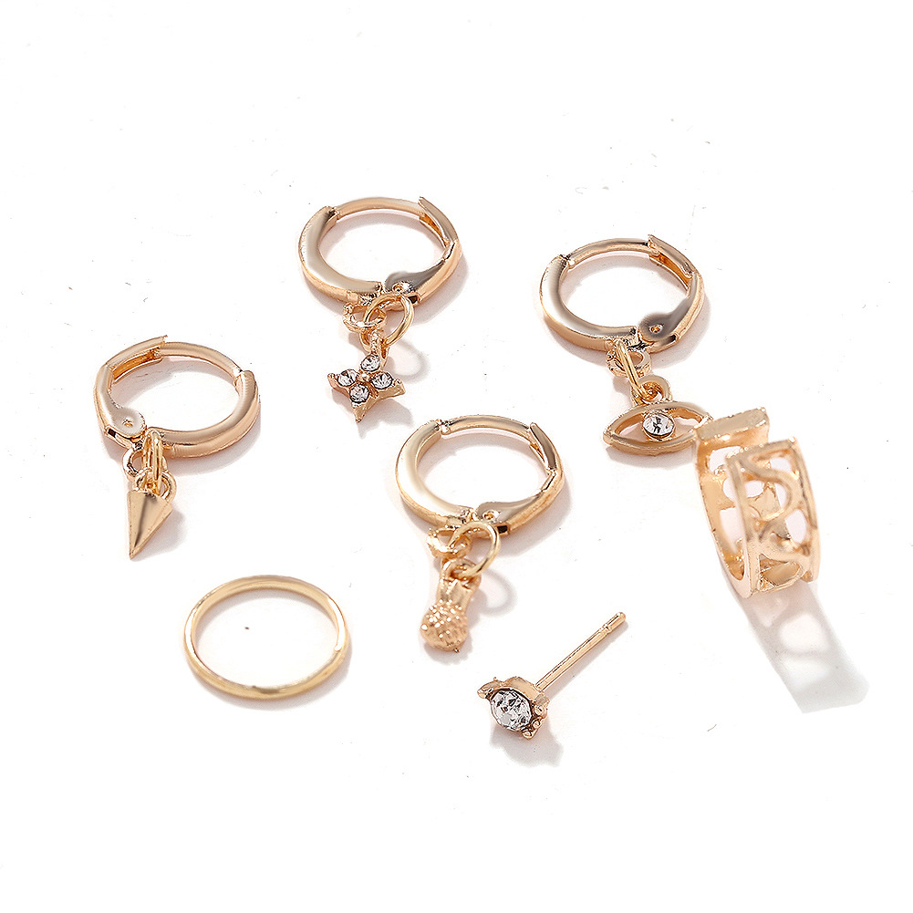 Fashion alloy stud earrings explosion style jewelry accessories wholesale NHJQ188702
