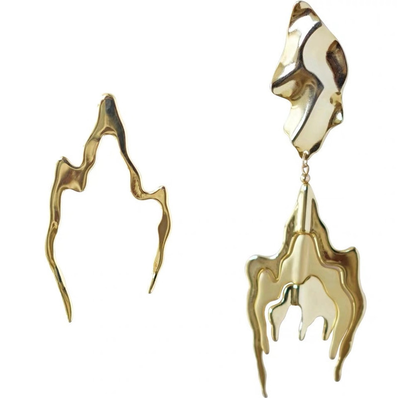 Alloy Fashion Geometric earring  (Asymmetrical earrings)  Fashion Jewelry NHYQ0710-Asymmetrical-earrings