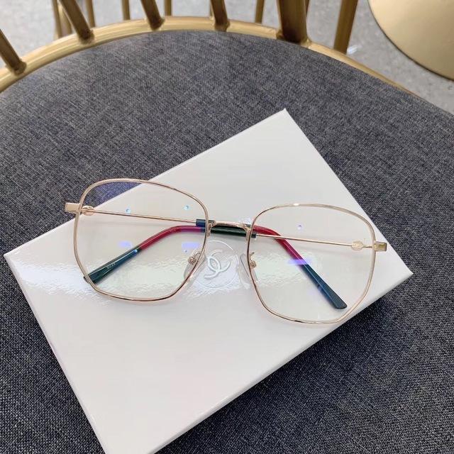 2019 sóng mới Ni Ni mạng đỏ nữ Li Yuchun với kính cận thị kính phẳng khung kim loại phẳng gương hoang dã Khung