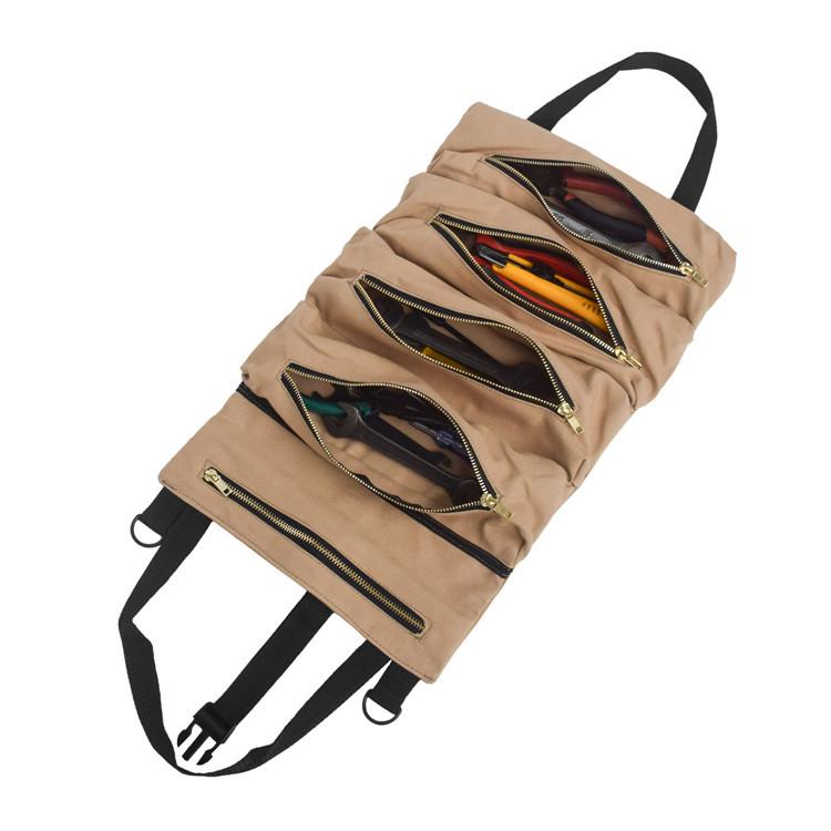 跨境厂家代发多功能帆布悬挂汽车收纳袋车载工具包便携收纳包