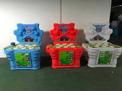 乐创游品牌直销锤子兄弟打地鼠打青蛙敲击儿童乐园游戏机电玩设备