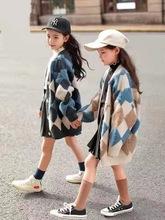 女童针织开衫2019新款春秋装网红洋气时髦大童儿童装秋季毛衣外套
