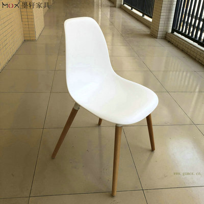 浏览椅阅览椅洽谈椅餐椅实木脚椅子塑料椅 培训椅 【298K实木脚】