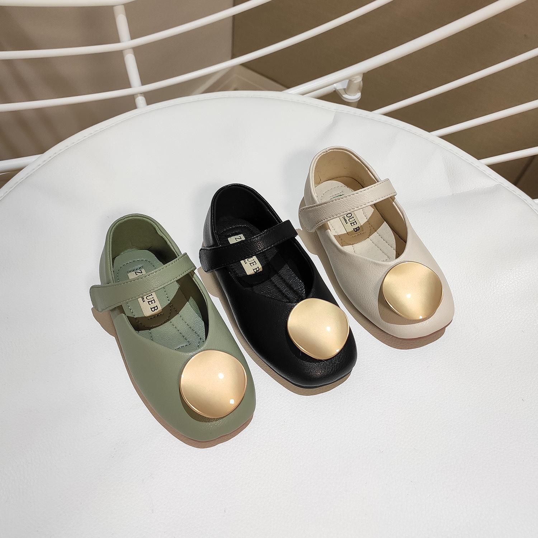 2020年春季新款小童鞋韩版女童金属扣时尚公主鞋儿童软底单鞋宝宝