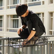 栏杆悬挂欧式组装阳台护栏铁艺多肉组装壁字母盆架防盗网挂式组装