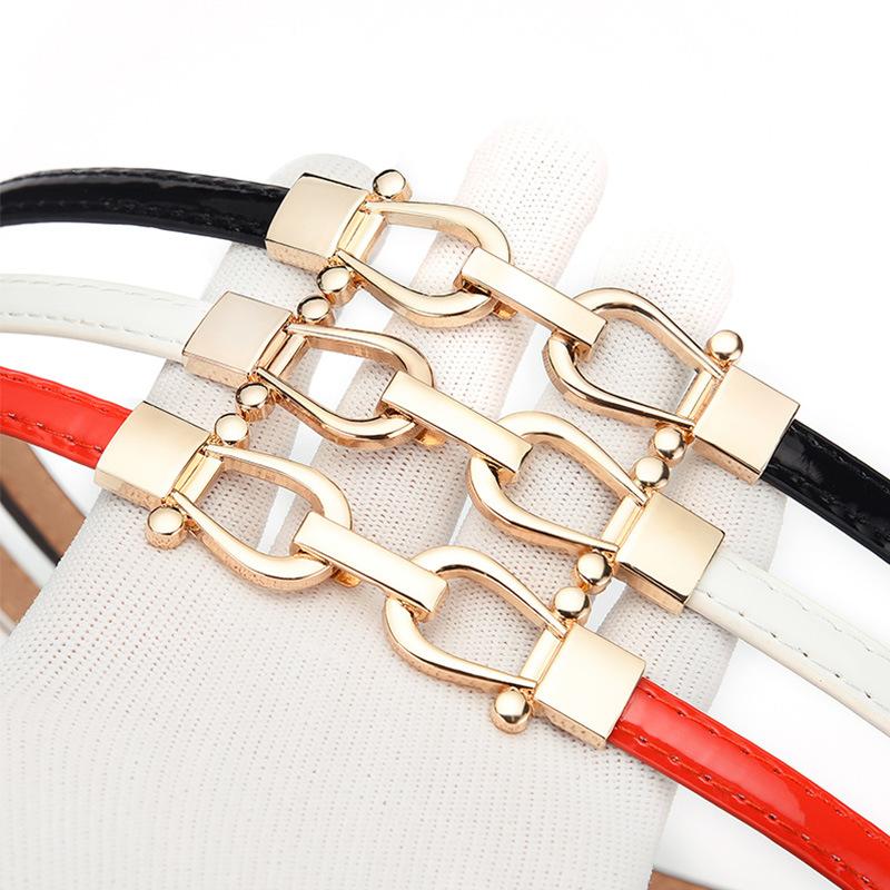 【新款】时尚休闲百搭款对扣女士细腰带 可调节腰带 女款装饰群带