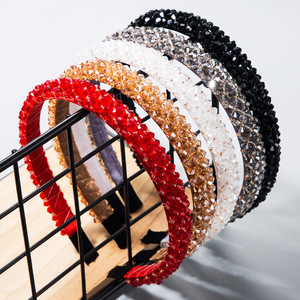 Hair clip hairpin for women girls hair accessories Fishline handmade hairband with fine edge and super flash Crystal Headband