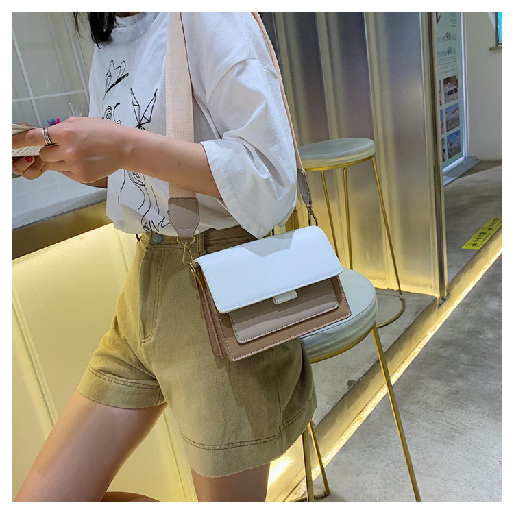 Korean fashion wild net red solid color texture fresh chain magnetic buckle Messenger bag NHXC139584