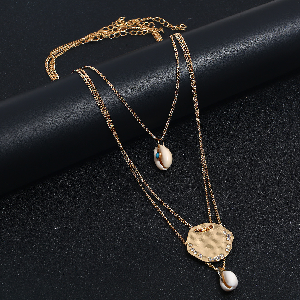 New accessories fashion yiwu nihaojewelry shell handmade necklace women's multilayer necklace jewelry wholesale NHKQ213539