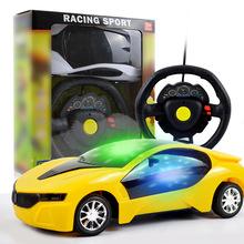 1:24二通方向盤遙控車 遙控汽車 兒童模型玩具車 贈品 地攤熱賣