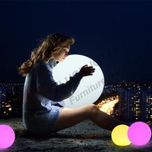 直销LED发光圆球灯 球形灯 床头灯卧室台灯 七彩发光led创意台灯