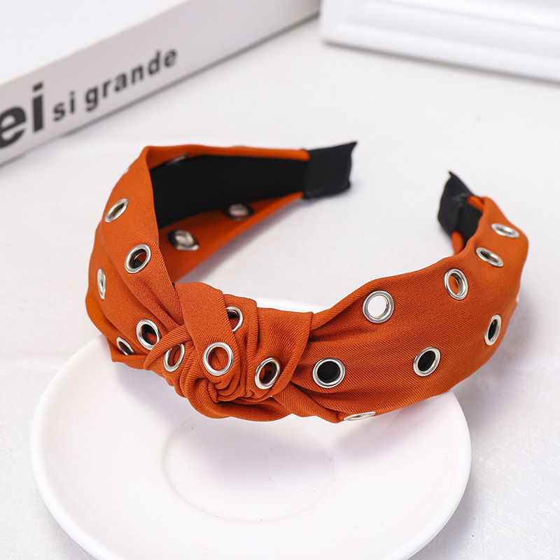 Fashion wild solid color fabric headband NHOU146175